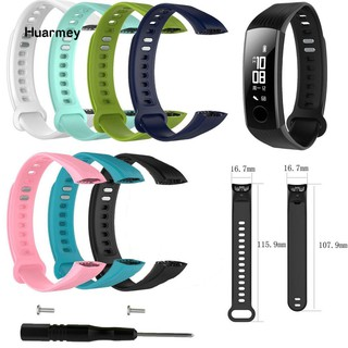 Hu Replacement Multiple Color Smart Watch Silicone Strap for Huawei Honor Band 3