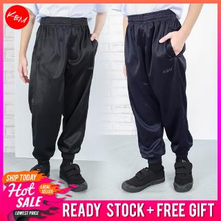 Size 24-52 KM Unisex Kids and Adult Plus Size Jogger Sport Pants Men Women School Uniform Seluar Sukan Sekolah [P17174]