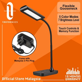 TaoTronics DL11 7W Eye-Friendly LED Panel Desk Lamp, Official Philips EnabLED Licensing Program ,Easy Touch Control