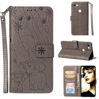 Lovely Pattern Google Pixel 3 XL PU Leather Embossing Wallet Stand Holder Flip Case Cover Phone Case