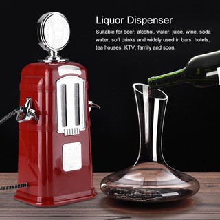 ⌒Gas Station Beer Dispenser Double Tube Wine Pump Alcohol Liquid Beverl Liquid Beverage Machine