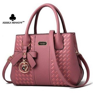 Jessica Minkoff Multi Compartment Sling Beg Women Ladies Handbag Embroidered Tote Bags Top Handle Bag 0183 (JM3810)