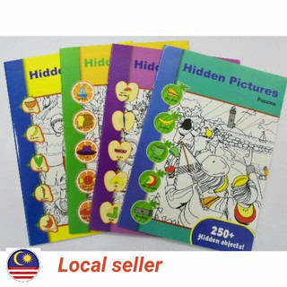 <<Ready Stock >> 1 Set 4 Books Hidden Pictures Books Story Books~1book 24page