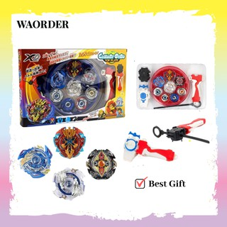 Alloy Beyblade Burst Gyro Fighting Gyroscope Launcher Spinning Toy 4pcs per set