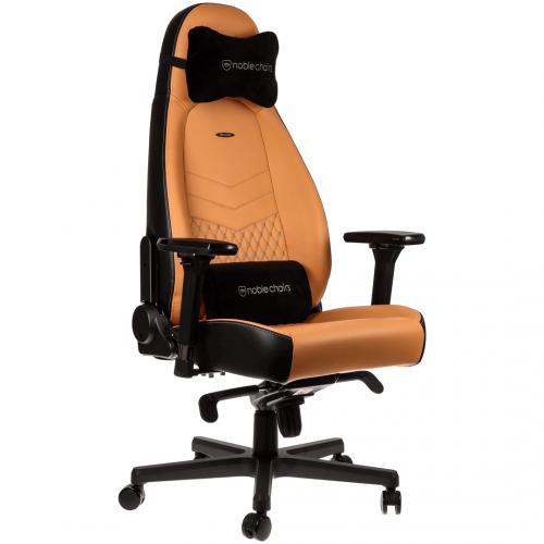 NOBLECHAIRS ICON FULL LEATHER GAMING CHAIR - COGNAC/BLACK