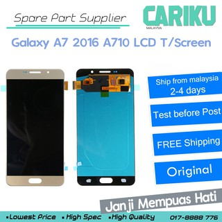 Galaxy A7 2016 A710 Original LCD Touch Screen Replacement !! CARIKU