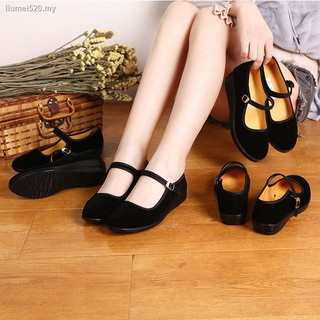 Old Beijing cloth shoes women's dancing soft-soled black for women work comfortable flat mom