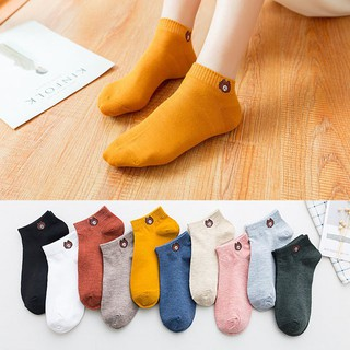 [Ready Stock]12.12 Limit Time Fashion Korean Women Socks Soft Cute Bear Sport Soft Breathable Ankle Hosiery