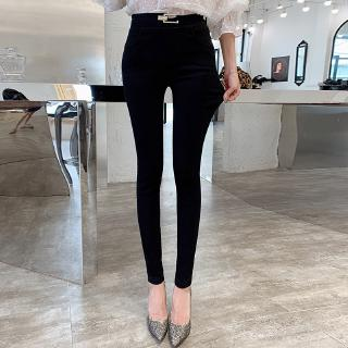 video real shot leggings outer wear high waist pencil pants skinny