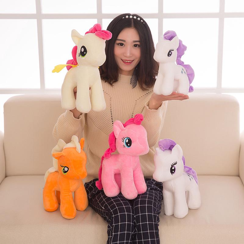 Unicorn Stuffed Toys 25cm/30/40cm My Little Pony Rainbow Plush Soft Kids Girl Toy