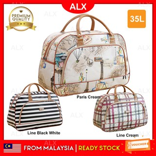ALX 35L Portable Water Resistant Hand Carry Strong PU Duffel Travel Bag Duffle Beg (35 Liter) XJ001