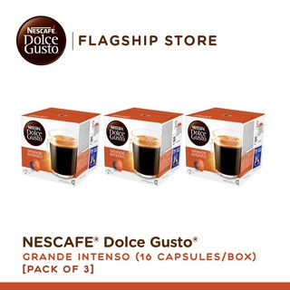 [Pack of 3] NESCAFE Dolce Gusto Grande Intenso Coffee - 16 Capsules Per Box