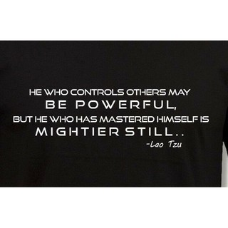 Lao Tzu Self Control Quote T Shirt Chinese Philosopher Laozi Novelty Tee Mens