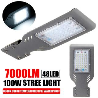 48 LED 100W LED Street Light 7000LM Security Lamp Garden Waterproof Walkway Road