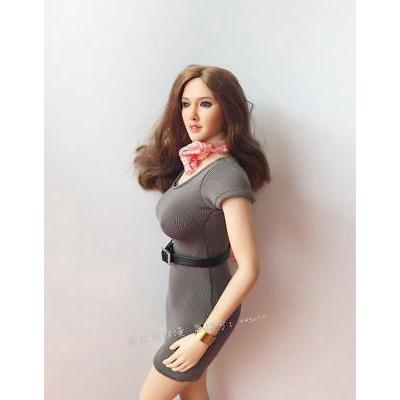 1:6 Scale Female Tight Dress Sexy Skirt Office Clothes F 12'' PH Body