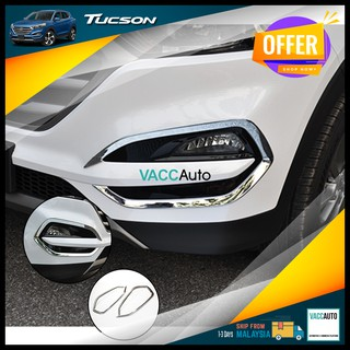 Hyundai Tucson 2015 - 2020 3rd Gen Fog Lamp Chrome Cover Lining Car Accessories Vacc Auto