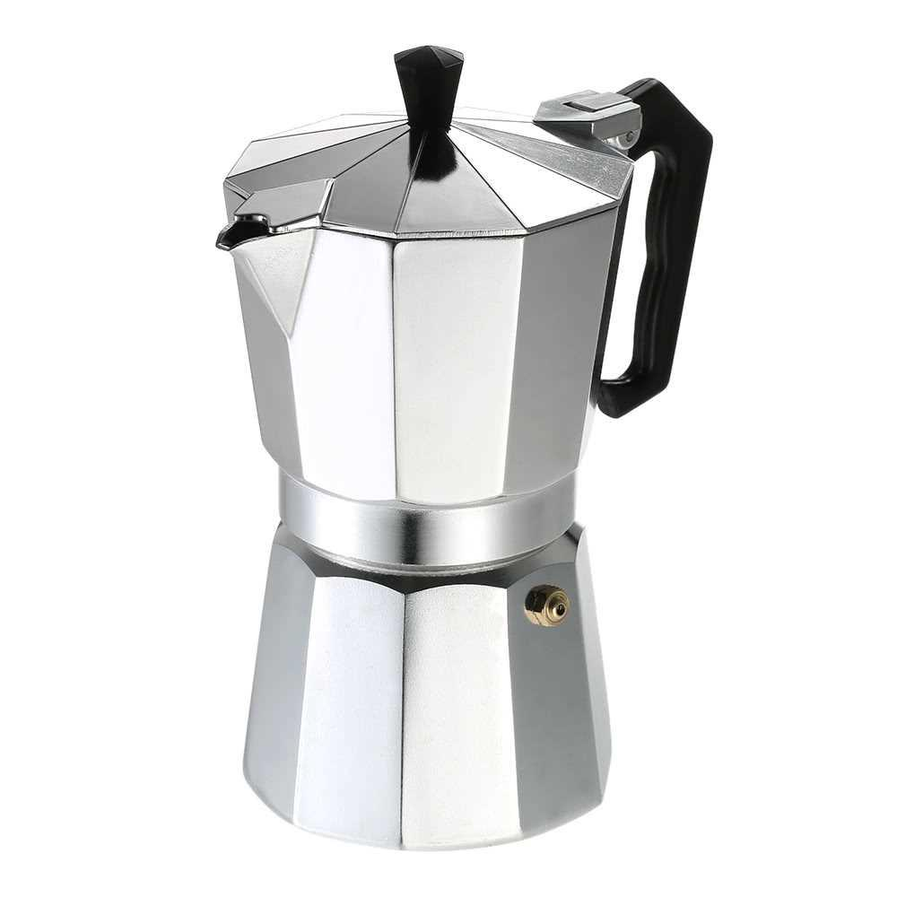 Aluminum Espresso Percolator Coffee Stovetop Maker Mocha Pot for Use on Gas