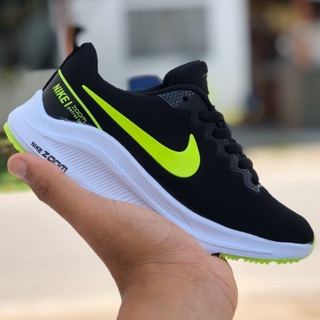 [READY STOCKS] NIKE ZOOM PETROL LOT KIDS BLACK GREEN SHOES SNEAKERS UNISEX NEW