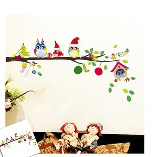 Tree Owl Wall Sticker Baby Kids Decal Mural Christmas Decor Wall Paper