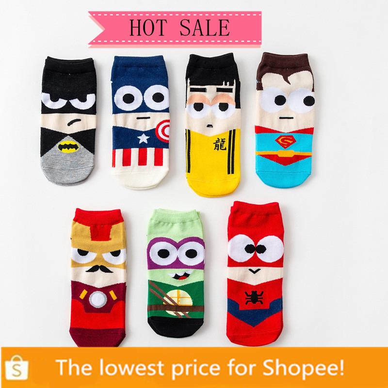 YRsugarCartoon Man women unisex 36-42 socks Ankle Cotton Socks Sports Socks