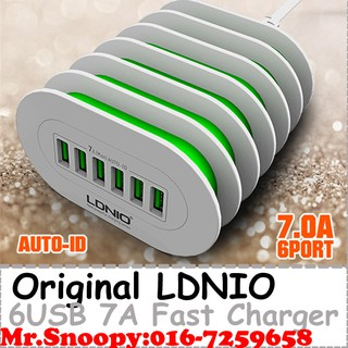 Original LDNIO A6702 6 USB Port 7A Fast Charger Phone Charger With Phone Stand