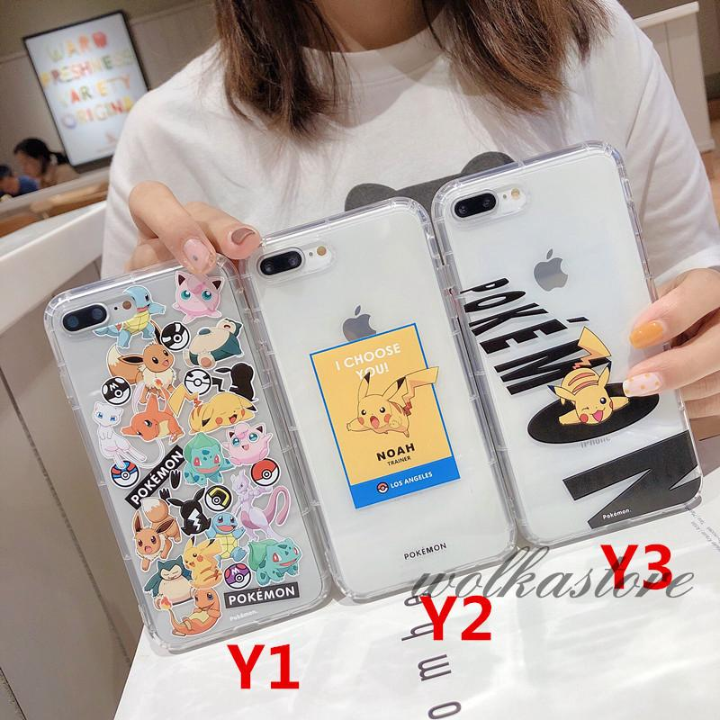 Cute cartoon Pokemons Pikachus couple phone case For iphone 11 11pro max Xs MAX XR X 6 6s 7 8 plus