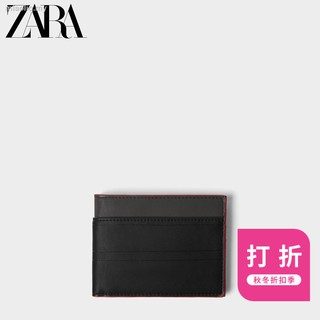 Card package◈ZARA male package qiu dong discount black wallet 16830005040 hitting scene