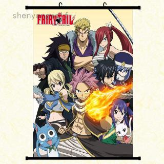 She Love Japanese Anime Fairy Tail Family Wall Scroll Painting Canvas Poster Cosplay Home Decor