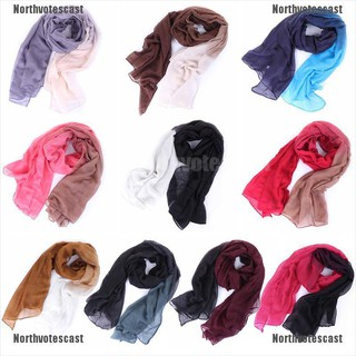 Northvotescast Women Lady Long Voile Shade Pashmina Hijab Shawl Scarf Voile Scarves Stole NVC NEW