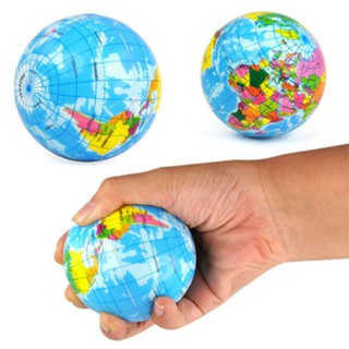 Earth Globe Stress Relief Bounce Foam Ball Kids World Atlas Geography Map