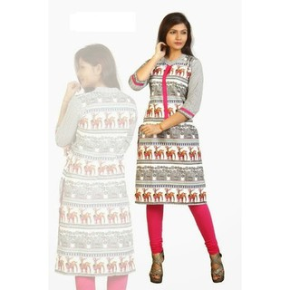 Bollywood Indian Exclusive Designer Long Women Kurti Kurtis Kurta Tunic Top Blouse Kurtis Cotton Plus Size Size M, L, XL