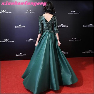 S-3XL High-end Atmospheric Grade Long Dress Dinner Wedding Evening Maxi Dresses