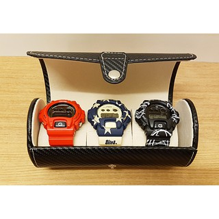 [M'sia] {Free Gift} Premium 3 Slots Travel Watch Box Travel case PU Leather Box GS01