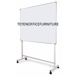white board/papan putih magnetic + mobile stand ( FREE DELIVERY KLANG VALLEY AND K.L )