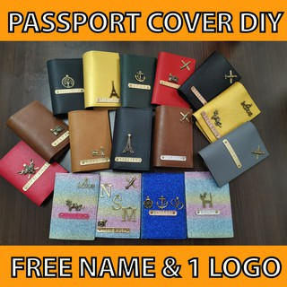 12.12 SALE [MALAYSIA SELLER] DIY PASSPORT COVER HANDMADE CUSTOMIZE FREE NAME & 1 LOGO/CHARM