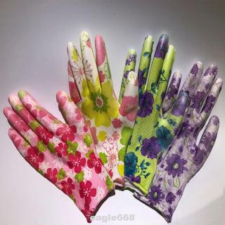 Women Working Gloves PU Floral Gardening Non-Slip Hands Protection