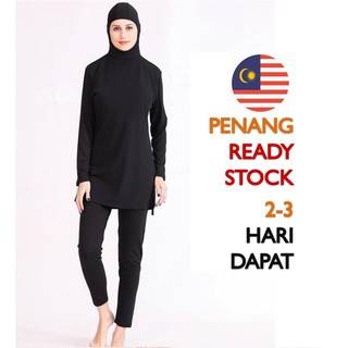 [104] M'SIA READY STOCK Muslimah Adult Swimming Suit Swimwear Baju Renang Muslim Swimming Muslim Clothes