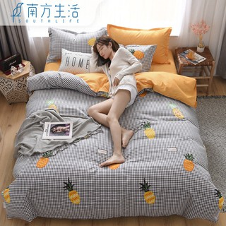 The southern life special offer a clearance four-piece bedding ins web celebrity three-piece bag sheets student's dorm