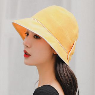 Spot 48-hour shipping South Korea's new bow wild basin hat summer outdoor sunscreen folding cloth hat shade student fish