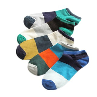 [Spot] New Year limited time Unisex Fashion Breathable Non Slip Ankle Casual Crew Hosiery Solid Color Socks