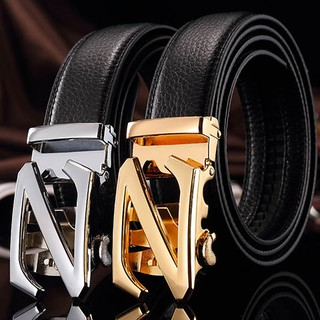 Ready stockBelt for men leather automatically adolescent male han edition leisure business zed belts suits