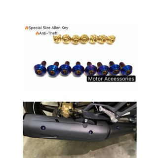 Yamaha Y15ZR Skru Titanium / Gold For Exhaust Cover