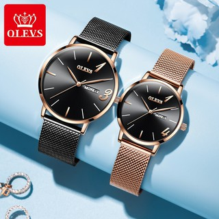 OLEVS Couple Watch Waterproof Men's Watch Women's Watch