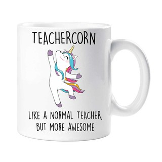 Teachercorn Mug Unicorn Like A Normal Teacher But More Awesome Tea Coffee Ceramic Mug Gift Tea Milk Cup Mugs