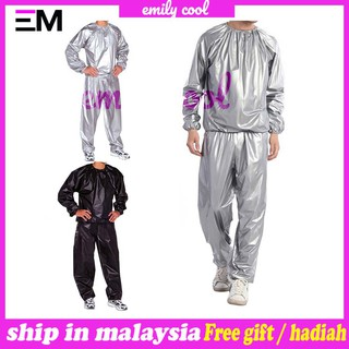 [M'sia] Ready StockHeavy Duty Fitness Weight Loss Sweat Sauna Suit Exercise Gym