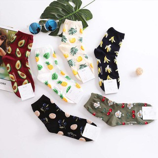 Sports Unisex Men Women Cartoon Soft 3D Funny Fruit Printed Pattern Socks