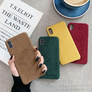 Autumn and winter corduroy iPhoneX phone case 11pro max Apple XR / 8plus / xs / 7P soft shell 6s female