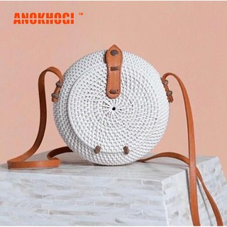 New Arrival Pure White Flip Cover Vintage Bohemian Women Sling Bag BY03