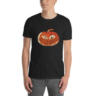 Mens T Shirt Pumpkin Alcohol Adult Beverage Tee Shirt Let'S Get Smashed Softstyle Shirt Cotton