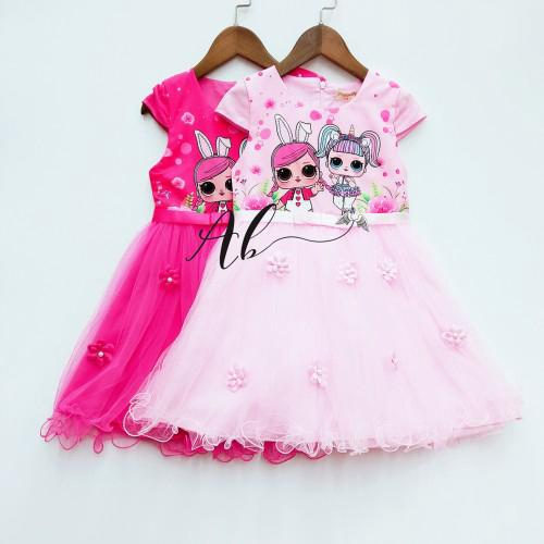 Angel Baby LOL Surprise Dress (Hotpink and Pink)